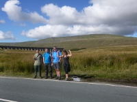 The team about to set off for Whernside