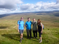 The team at the summit of Whernside