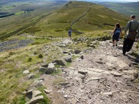 The team descend Whernside