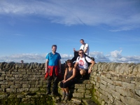 The team at the summit of Inglebrough