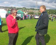 Branch Chair Chris chats with the local MP